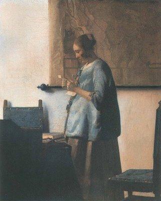 Johannes Vermeer (1632-1675) - Mulher de azul lendo uma carta