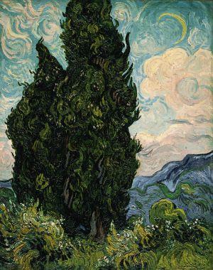 Vincent Van Gogh [1853-1890] | Ciprestes | [1889]