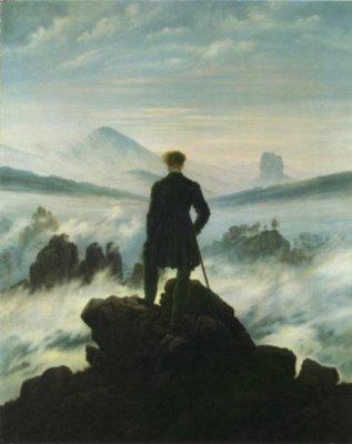 Caspar David Friedrich [1774-1840] | Caminhante Contemplando um Mar de Nevoeiro | c.1817/18