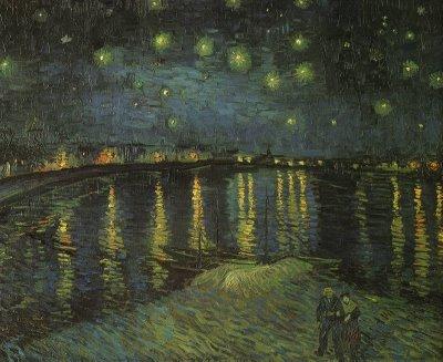 Vincent van Gogh [1853-1890] | Noite Estrelada Sobre o Reno | 1888
