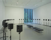 Janet Cardiff, The Forty-Part Motet, MoMA installation view, Autumn 2005