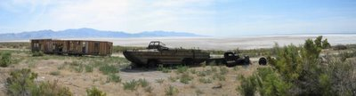 On the road to Spiral Jetty, August 2004