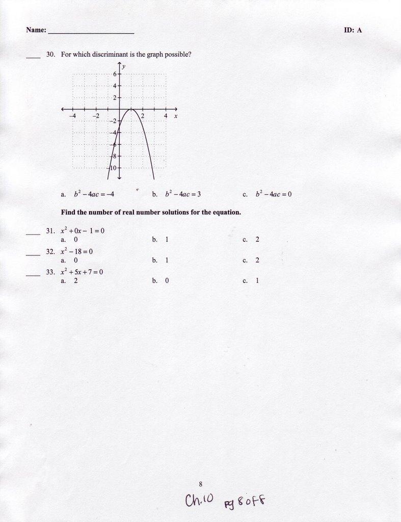 Ms Chans Algebra 1 05 06 May 2006