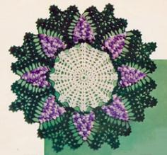 Grape Doily Crochet Pattern PDF J271 by PatternBabe