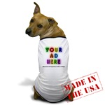 Your-Ad-Here Dog's T-shirt