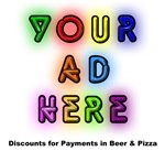 Your Ad Here: Discounts for Payments In Beer & Pizza