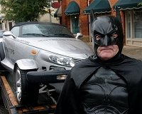 Batman helps town remove bats
