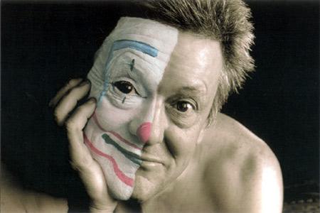 Reg - half clown. pic: Nic Ellis - West Australian Newspapers