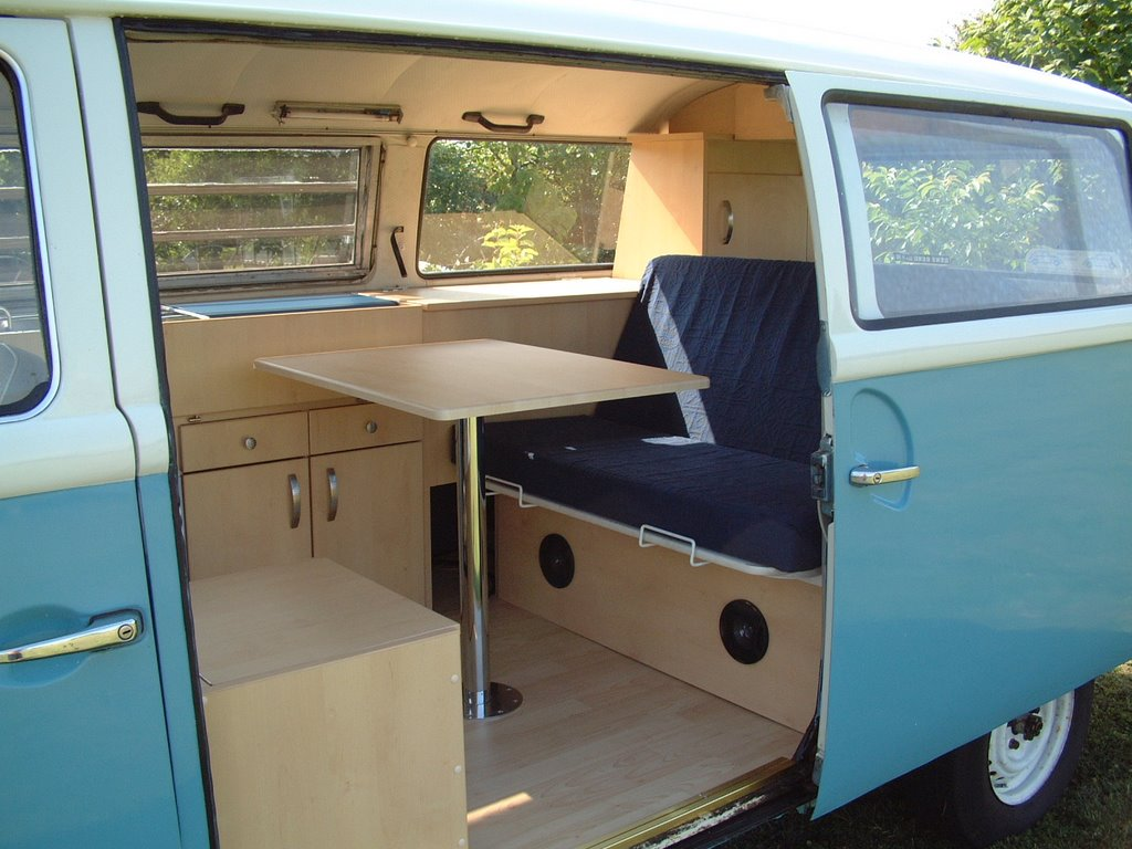 Camper shak interiors for Vw kombi interior designs