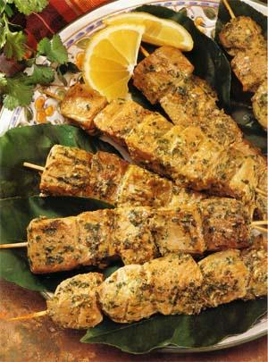 Grilled Tuna Kebabs Recipe — Dishmaps