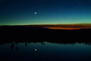 Vênus, Mercúrio e a Lua