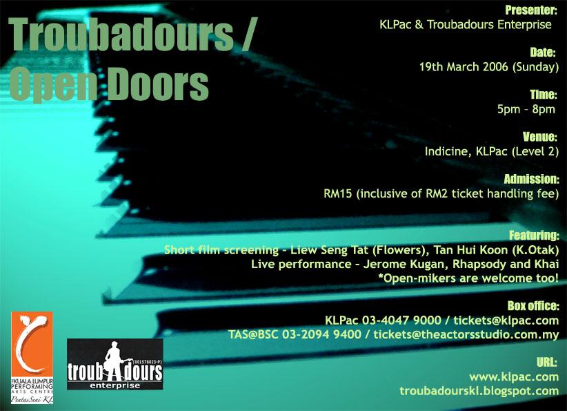 TROUBADOURS / Open Doors