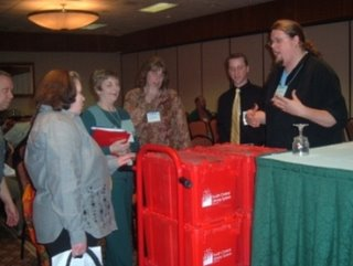 SCLS Delivery's new red hand truck at WAPL 2006