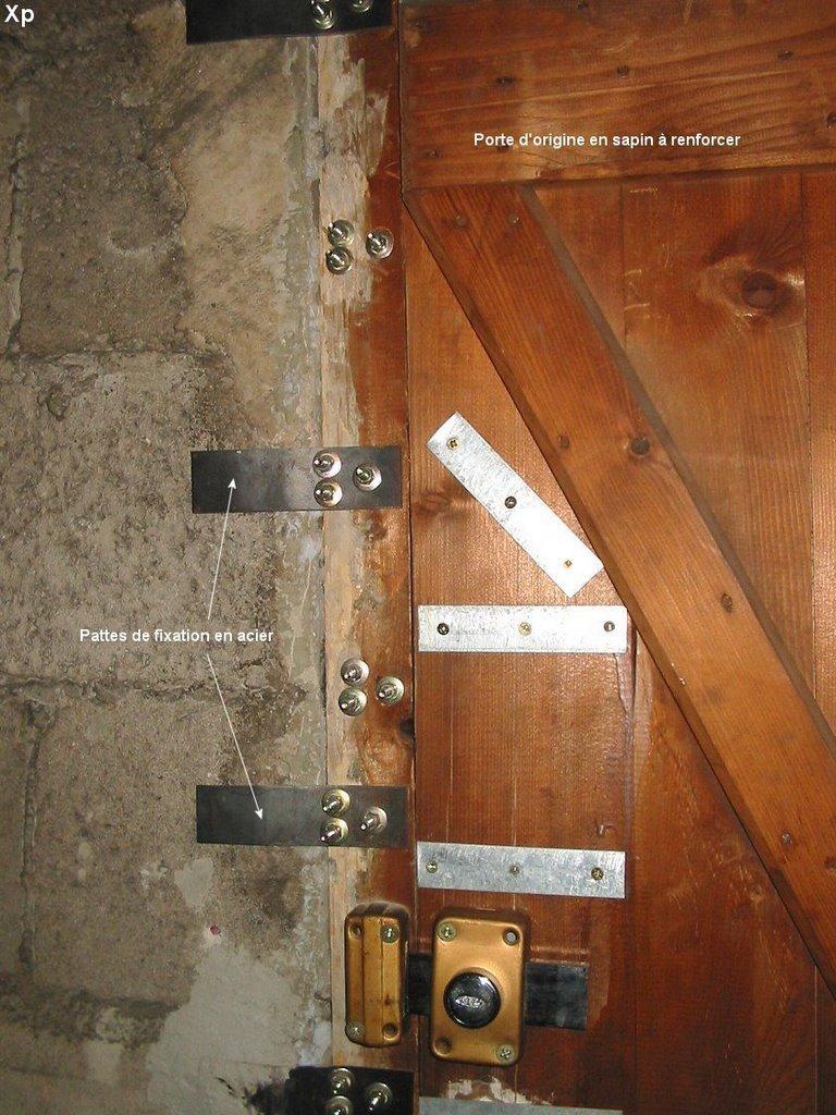 Renforcer une porte great une quarantaine de fixation en - Comment fabriquer une porte en acier ...