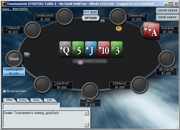 PokerStars Beta Client Screenshot