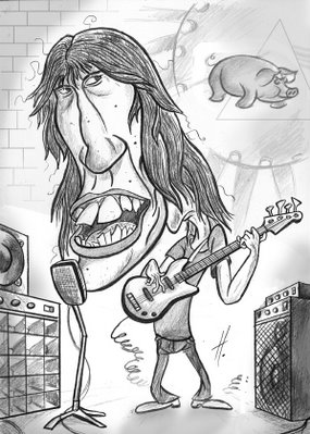 pink floyd caricature - roger waters