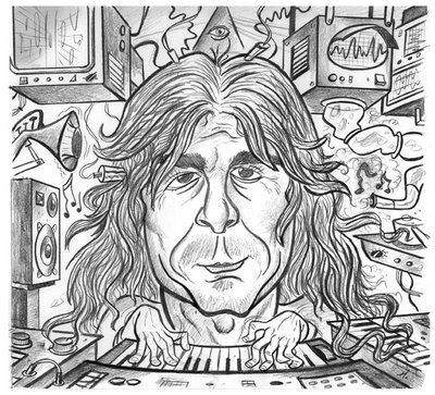 pink floyd caricature - richard wright