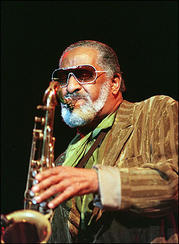 American jazz legend Sonny Rollins, seen here in 2001, survived 9/11 but cannot forget it,...