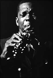 John Coltrane performing in 1961. Recent jazz releases featuring Coltrane illustrate the value of live performances, and its impact on the genre.