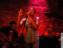 Wright in concert. She's classified as 'jazz,' but her range is actually much broader.