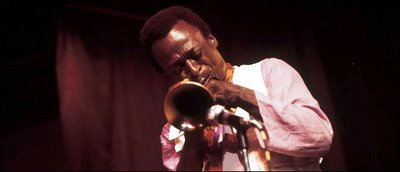 The trumpeter Miles Davis from the 1970 Cellar Door sessions.