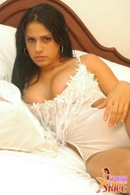 Selena Spice Sexy White Bodysuit