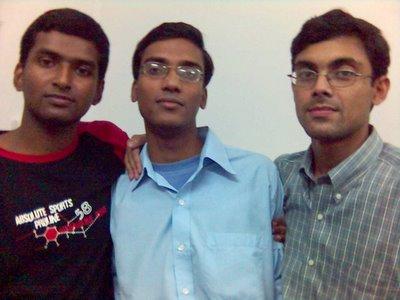 Myself,Chinmoy and Dipanjan