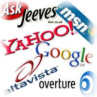 motori di ricerca Google Yahoo MSN Ask Jeeves