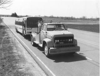 1974 GM Transbus Prototype - Milford Proving Grounds Towing