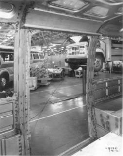 Transbus Modular Frame inside GM Truck & Bus Prototype Garage