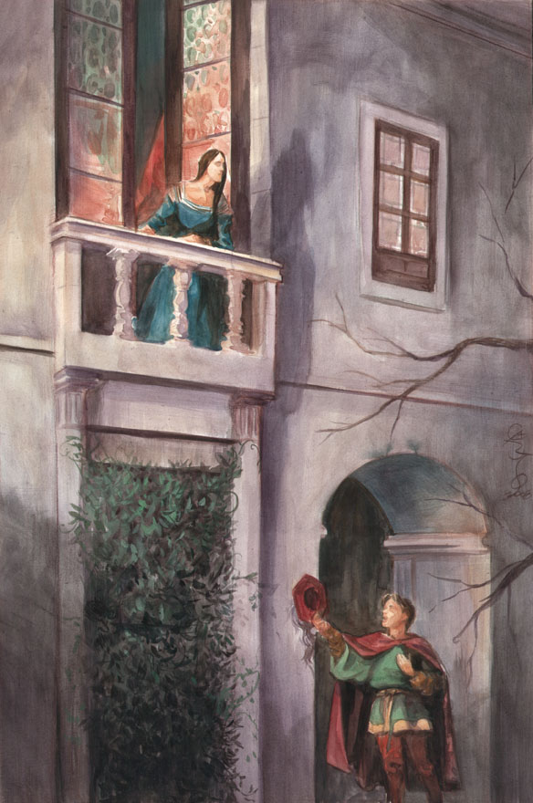 """essay on the balcony scene in romeo and juliet Introduction one of the most famous scene in the shakespeare play romeo and juliet is the """"balcony scene"""" which occurred in (221-205) this scene takes place in capulet's garden where romeo stares at juliet while she is on her balcony confessing her love for romeo."""