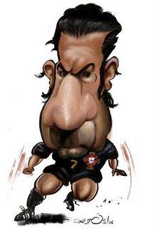 caricaturas jogadores - Luis figo