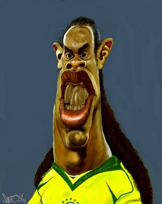 Caricaturas famosas - Ronaldinho