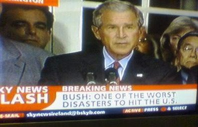 political - bush worst disaster