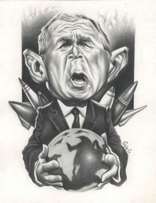 Bush - caricatura de famosos
