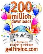 Browser Firefox 200 milhões de downloads