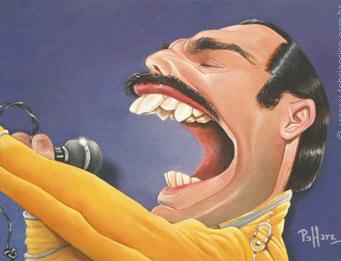 Caricarturas Musica - Freddie Mercury