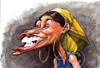 Caricaturas de famosos - Nelly Furtado