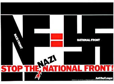 David King. Stop the Nazi National Front!, poster para la Liga Anti-Nazi, 1978. © David King Collection