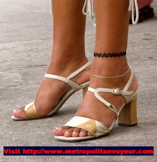 Two anklets high heeled strappy sandals. Click to see larger !