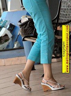 strappy cork heels feet sandals legs pants feet slingback arch