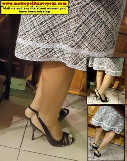 secretary skirt red shirt high heel shoes pointed toe perfume smell chair office grocery store legs hands clasp computer fix