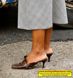 Teacher Oxford brown mules with 2.5 inch heels in very wornout and scratched condition