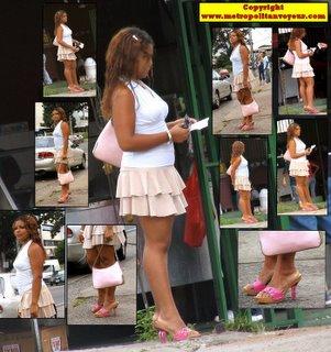 Miniskirt high heeled platform pink sandals hottie