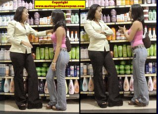 Careless grocery store female employee received an admonition for talking during work hours
