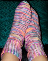 Finished Rock and Weave Socks