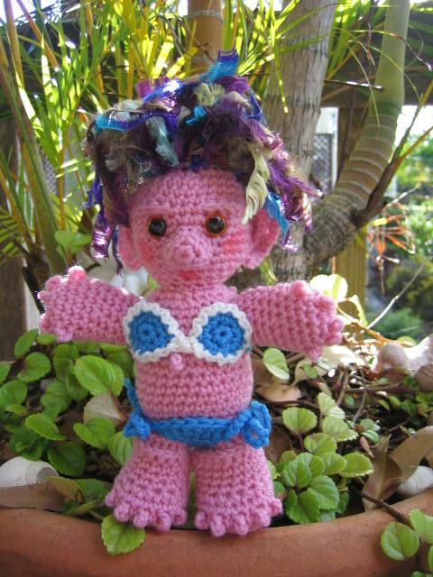 Crochetroo Sheila The Aussie Troll Dolly