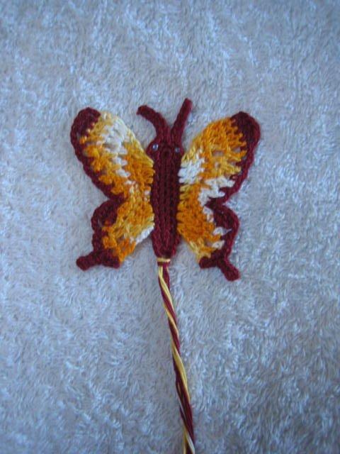 crochetroo: Ulysses Butterfly Bookmark- free crochet pattern