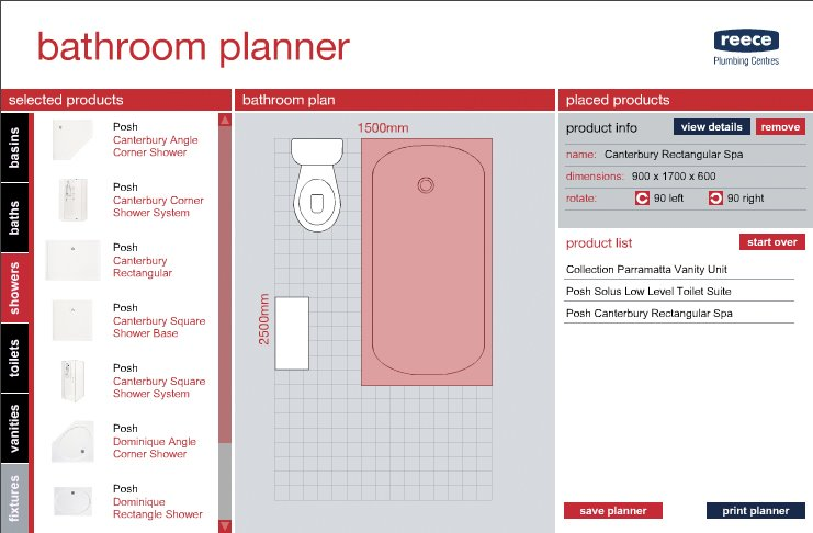 design news interactive bathroom planner