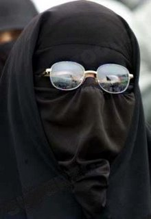 muslim woman in sun glasses